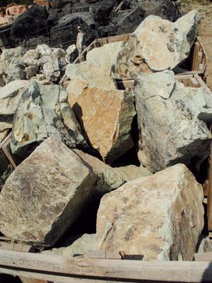 Misty Green Boulders